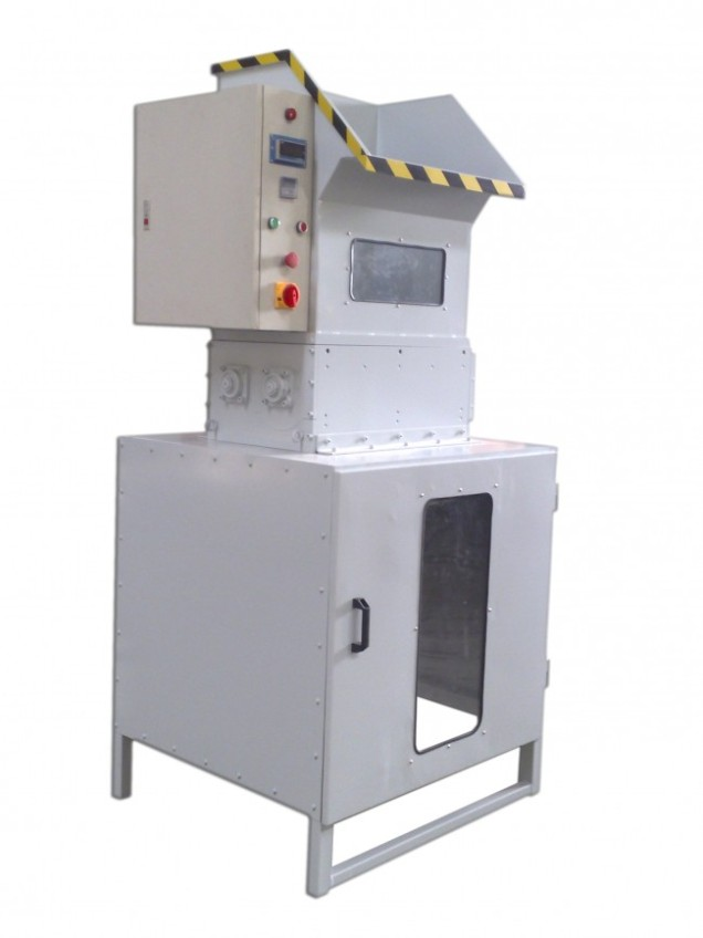 SHREDDING MACHINE FOR POLYSTYRENE WASTE EPS Mod. FS250, Output kg/h 120